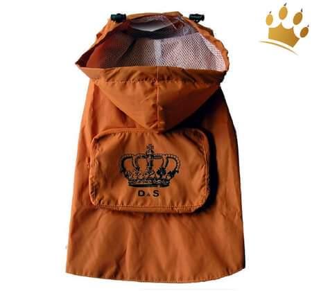Hundeparka Orange Rain