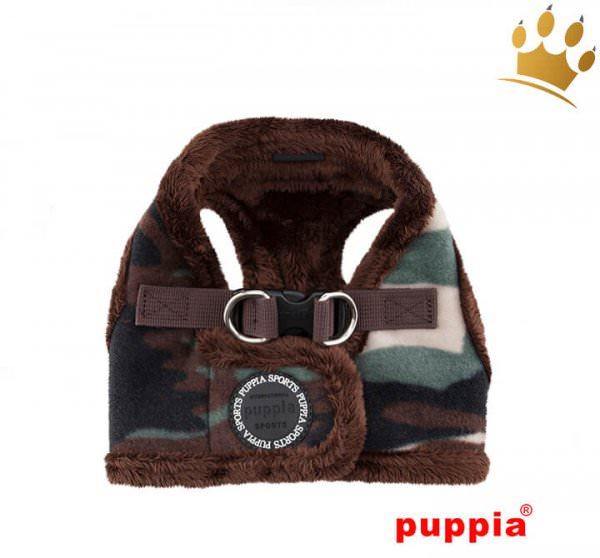 Puppia Step-In Geschirr Corporal Camouflage Grün