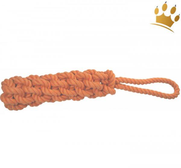 Tauspielzeug geflochten mit Schlaufe Orange