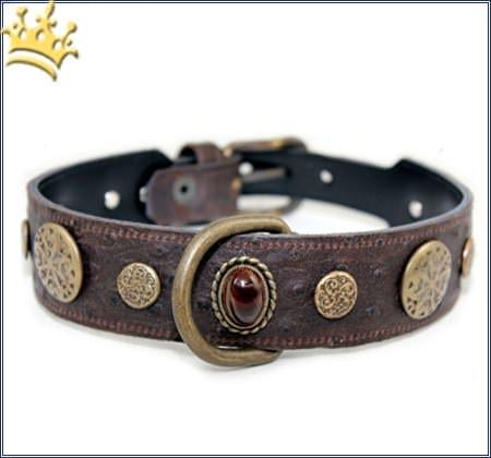 Lederhalsband Hermes Chocolate