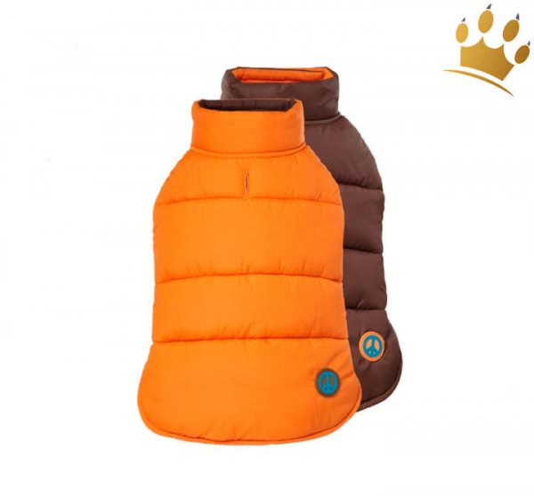 Hundewende-Weste Cortina Orange/Braun