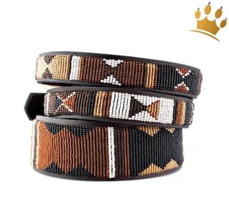 Orginal Hundehalsband Maasai Earth