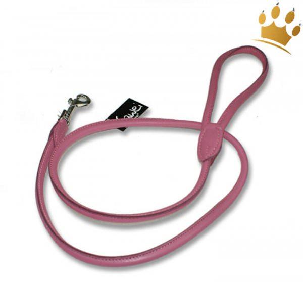Rundleine Leder Pink