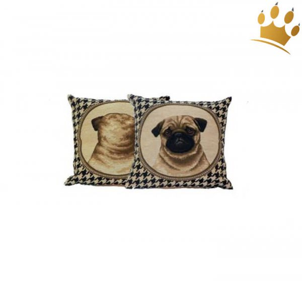 Hunde-Kissen Gobelin Mops