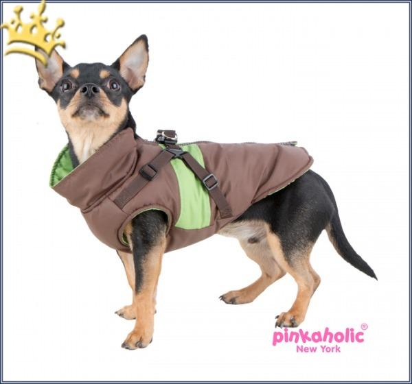 Pinkaholic Hundemantel Aiden Braun