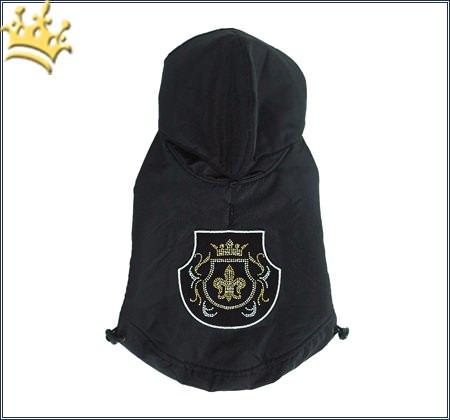 Mopsmantel Royal Fleur Black