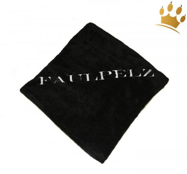 Hundedecke Faulpelz Schwarz/Silber