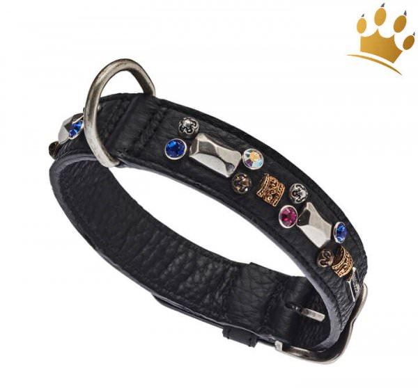 Malucchi Hundehalsband Petra 3cm Schwarz