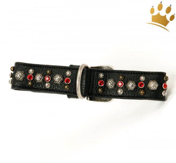 Malucchi Halsband Samarcanda 4cm Schwarz