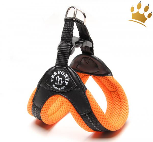 Tre Ponti Hundegeschirr Soft Mesh Orange