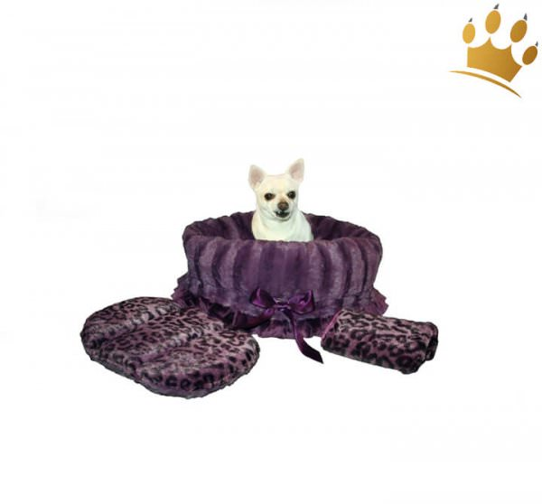 Hundetasche Snuggle Bug Purple Cheetha
