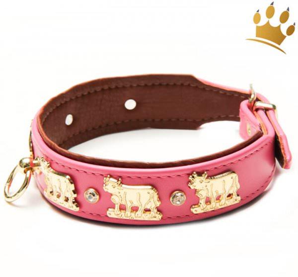 Hundehalsband Lucky-Muh Pink