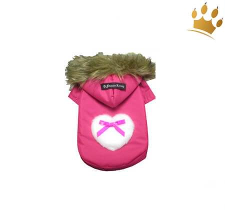 Hundeparka Heart pink