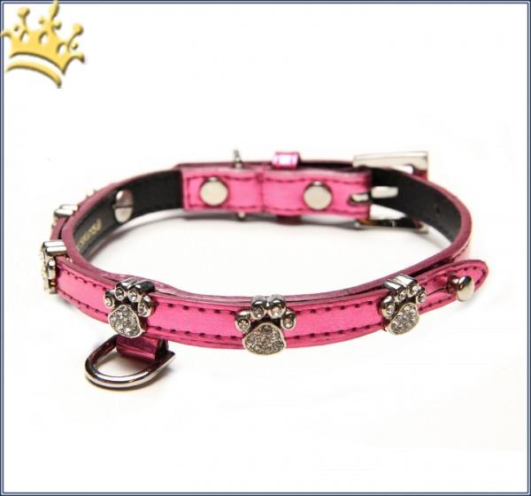 Halsband Brilliant Paw metallic-pink