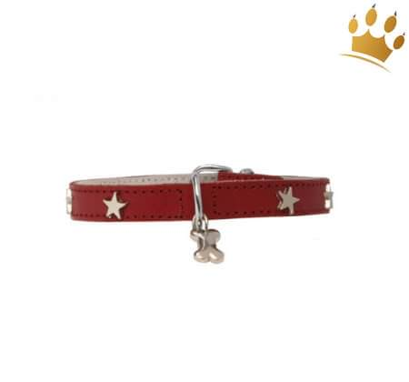 Hundehalsband Silverstar Red
