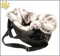 TG&L Hundetasche Carrybag Monte Carlo Black Chinchilla Silber