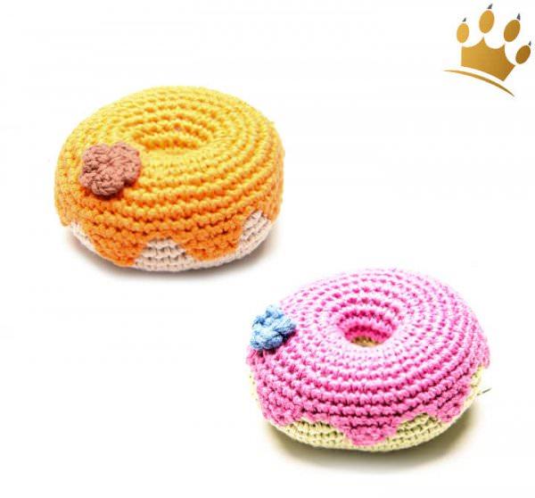 Hundespielzeug Donut handgehäkelt
