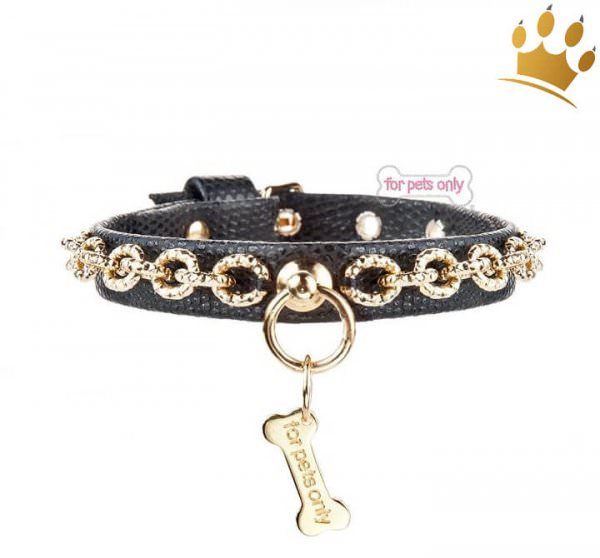 Hundehalsband FPO Chic Chain Black