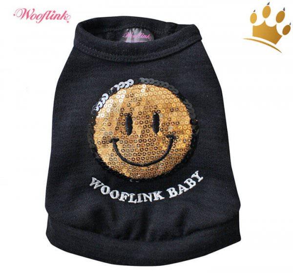 Wooflink Hunde-Shirt Smile Black