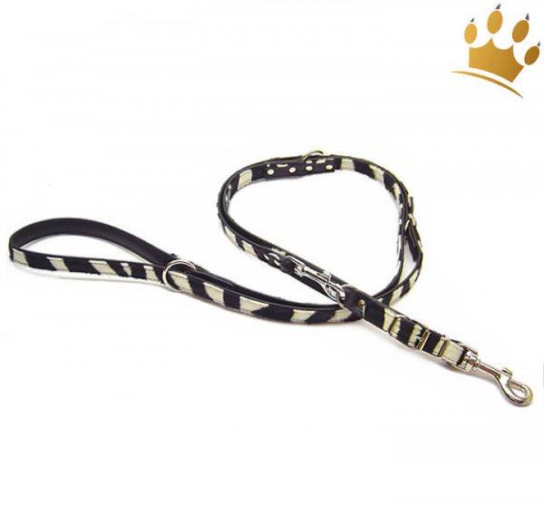 Hundeleinen Nairobi Zebra verstellbar 220cm