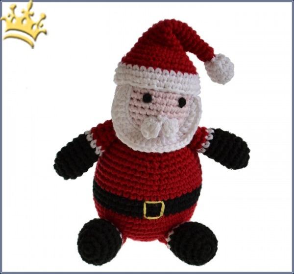 Hundespielzeug Häkel-Weihnachtsmann