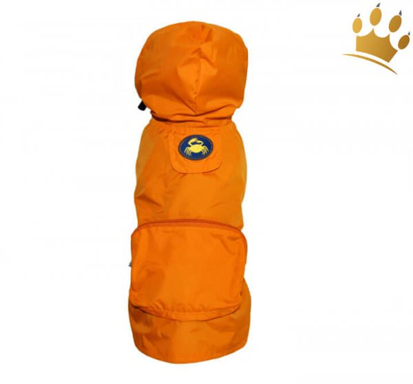 Hunderegenjacke Pocket Orange