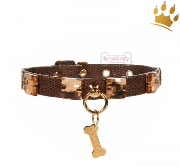 For Pets Only Hundehalsband Gold in Love