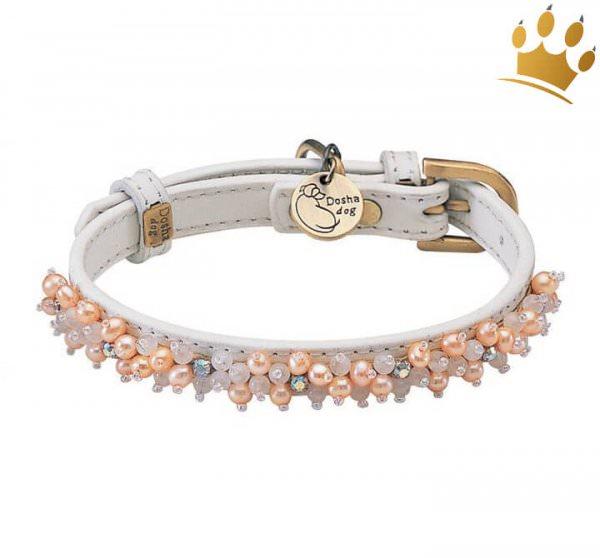 Halsband Dosha Dog Mini Beads Weiß