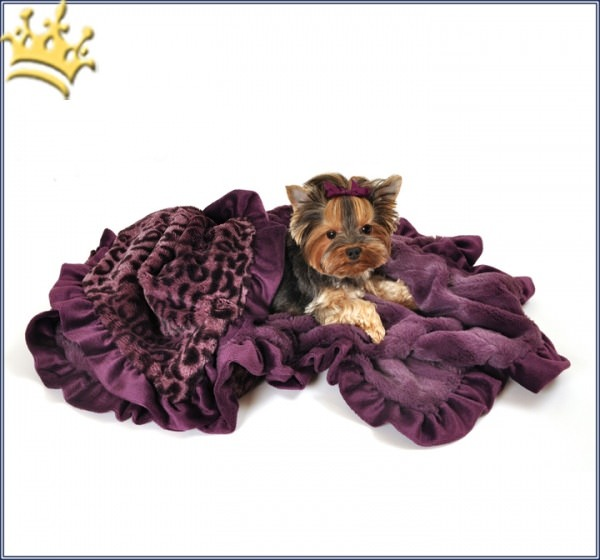 Hundedecke Cheetha Purple Cuddle Throw