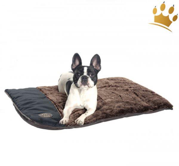 Hundedecke Plaid Banquise Schwarz / Braun