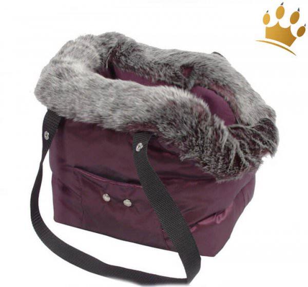 Hundetasche Alexina Burgundy Fur