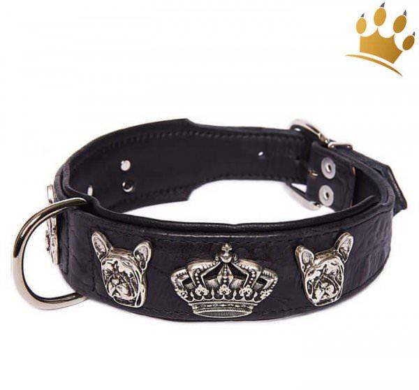 Hundehalsband Bully Deluxe Halsbänder Schwarz