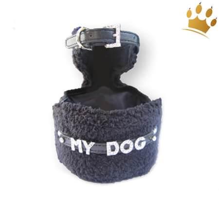 Hundegeschirr Set Elegance Schwarz
