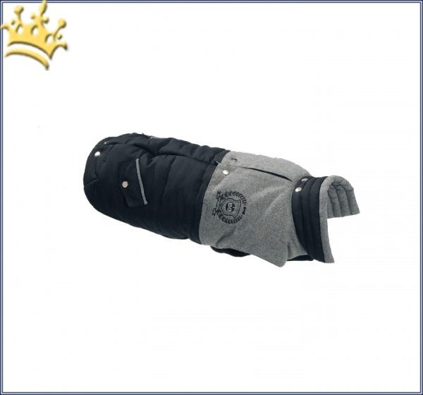 Hundemantel Oxford Grau /Schwarz