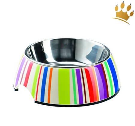 Hundenapf Melamin Stripes