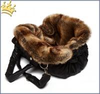 TG&L Hundetasche Bellagio Chinchilla Vintage Black