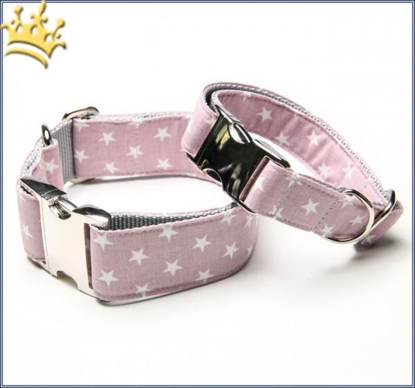 Hundehalsband Little Star Rosa