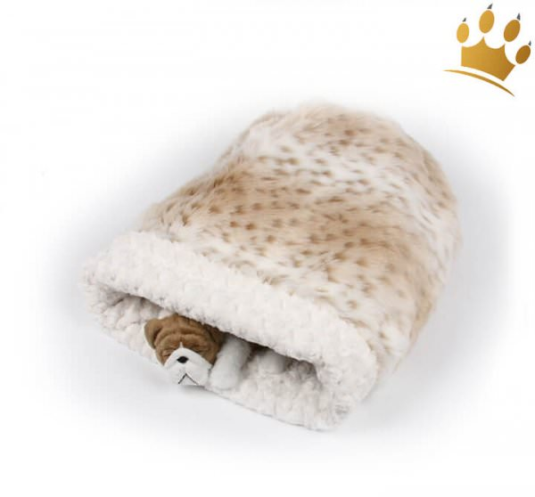 Hunde Cuddle Cup Snow Leopard Curly White