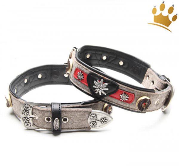Hunde-Lederhalsband Fesche Vroni