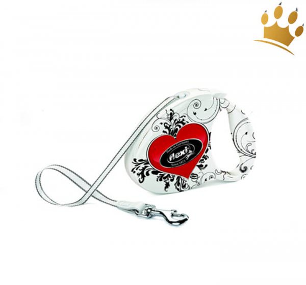 Hundeleine Flexi Fashion Heart