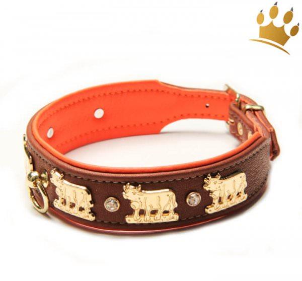 Hundehalsband Lucky-Muh Orange