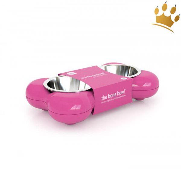 Hundenapf The Bone Bowl Pink