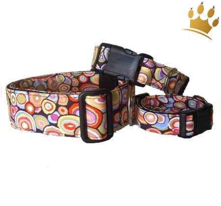 Hundehalsband Retro-Look Multi