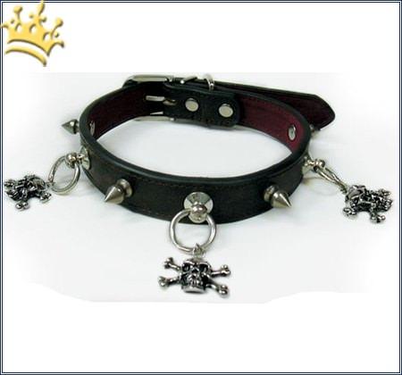 Hundehalsband Spike Skull