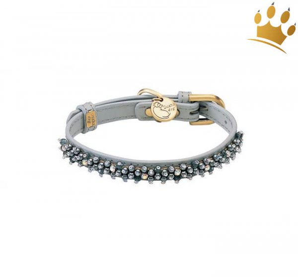 Halsband Dosha Dog Mini Beads Grau