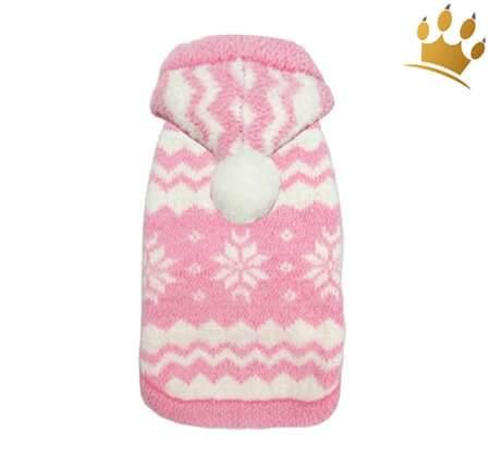 Hunde-Pullover Snowflake Rosa