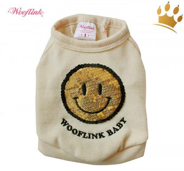 Wooflink Hunde-Shirt Smile Beige