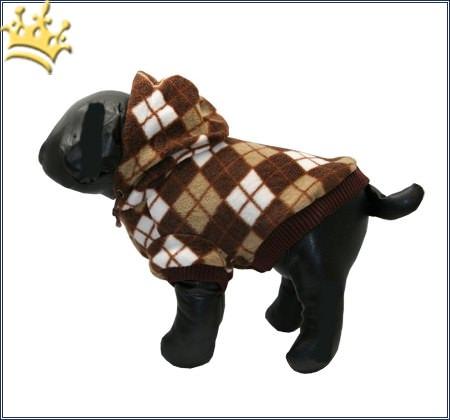 Hundejacke Checker choco