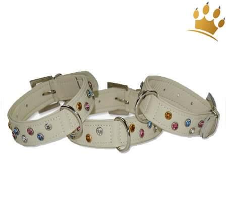 Hundehalsband mit Strass Calas