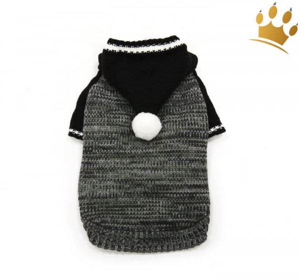 Hundepullover Hoodie Black and White